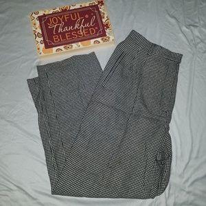 Lauren Ralph Lauren wool houndstooth pants 14